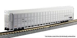 KATO-1065503-N-Autorack-CN-4-Car-Set-712800-712810-712831-712864-106-5503