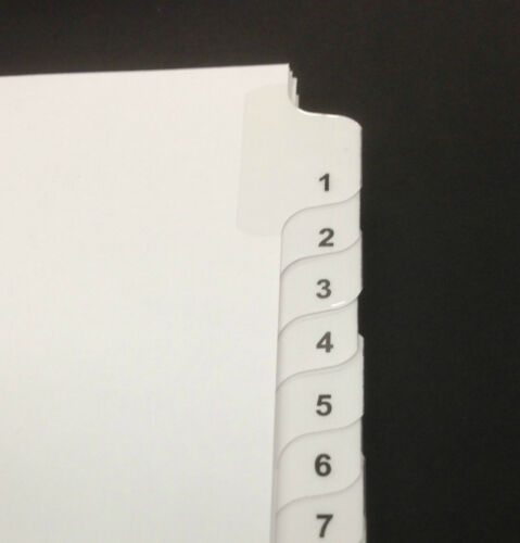 1-25 10 Pack Legal Index Tabs
