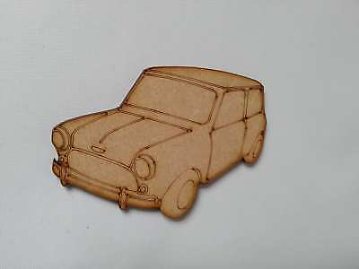Wooden Mdf mini car shape front view decoupage craft various sizes CFE166