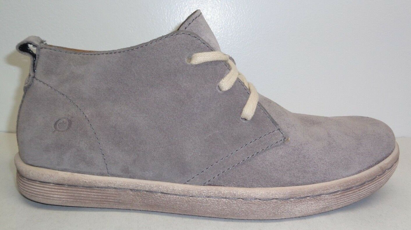Born Size 13 CRISTIAN Cloud Grey Suede Ankle Boots New Mens shoes