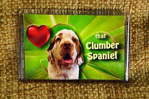 Clumber-Spaniel-Gift-Dog-Fridge-Magnet-77x51mm-Free-UK-Post-Birthday-Gift