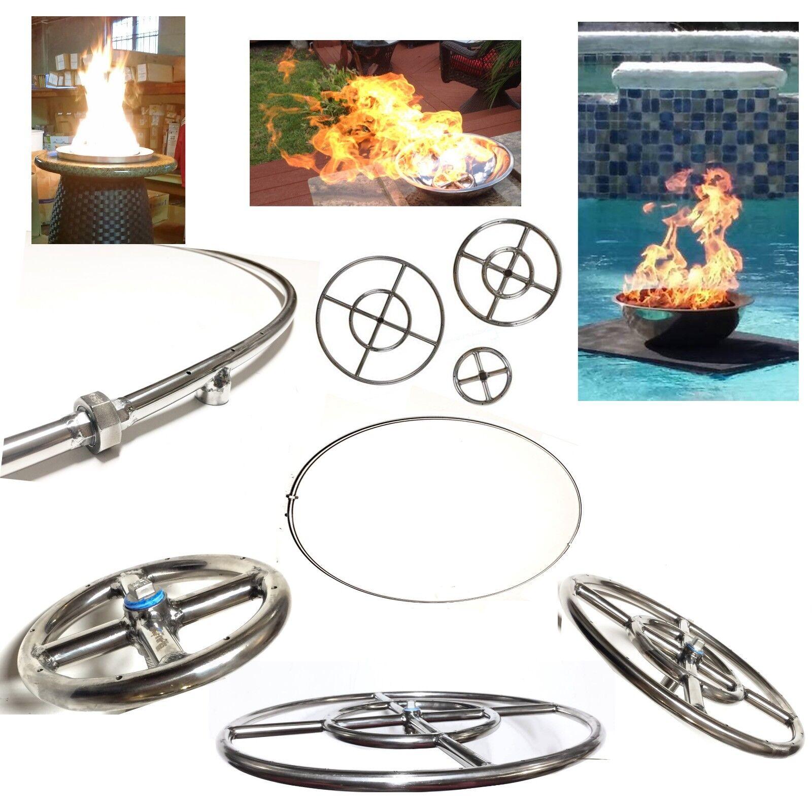 Easyfirepits vida guerra 316 Acero rojoondo Gas Fuego Pit fuego Quemadores De Mesa