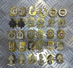 Genuine-British-Army-Military-Issue-Collar-Dogs-Metal-Regimental-Badges-Asst