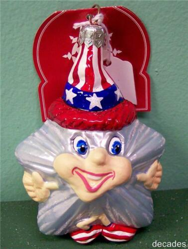 Patriotic 2002 USA HAPPY STAR New SLAVIC TREASURES GLASS ORNAMENT