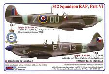 AML Models Decals 1/48 ROYAL AIR FORCE 312 SQUADRON Part 6