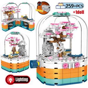 Bausteine 601077 Rotieren Frühling Kirschblüten-Szene Mit Licht 259PCS OVP