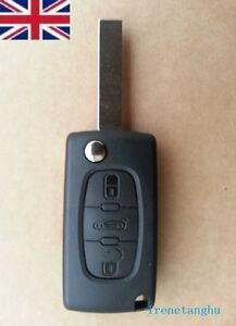 Peugeot-Expert-Partner-Van-Centre-3-Button-Remote-Flip-Key-Fob-Case-Shell-Repair