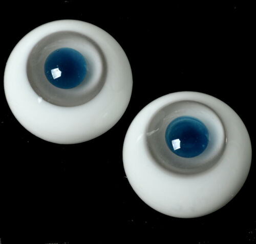 Nice Deep Blue Pupil/&Gray Iris 10mm Glass BJD Eyes for 1//6 BJD Doll