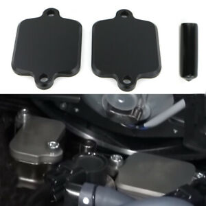 CNC-Aluminum-Smog-Block-Off-Plate-Kit-For-Kawasaki-ZX-14R-Concours-14-2004-2018
