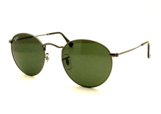51a25d932d Genuine RAYBAN Sunglasses Rb3447 029 53mm Round Metal Gunmetal G15 Grey 3447