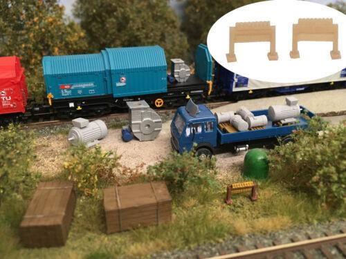 Modellbahn Union MU-TT-A00250 TT Hemmschuhständer 2x