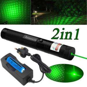 2x Astronomy 900Miles Green Laser Pointer Pen Focus 532nm Visible Beam Star Cap