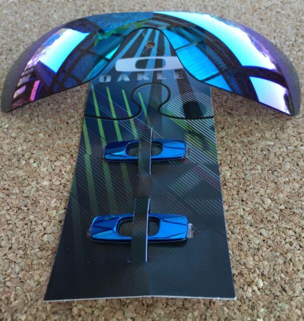 Oakley Batwolf METALLIC BLUE icons w/ POLARISED Sublime Optics Lens •GOOD-DEAL•