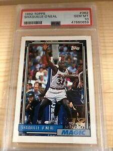 Shaquille O'Neal 1992-93 Rookie Topps #362 **FRESHLY GRADED*** (PSA 10)