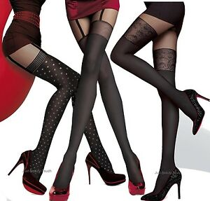 MOCK SUSPENDER TIGHTS FIORE NOIRA IMITATION HOLD UPS STYLE TIGHTS Collection new Fiore For Sale Footlocker dgzXPp