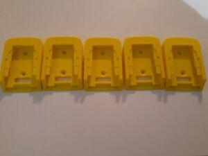 Made in USA Holder Lot of 5 Hanger 5xPack Dewalt 20V Battery Mount