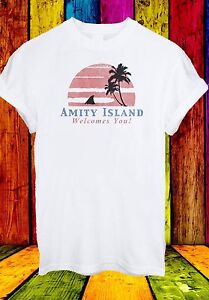 Amity-Island-Welcomes-You-Jaws-Retro-Movie-70-039-s-80-039-s-Men-Women-Unisex-T-shirt-29