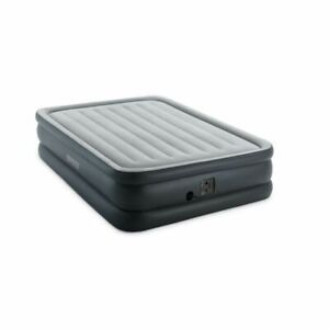 Intex 64139EP Dura Beam Pillow Rest Queen Airbed with Internal Electric Pump - Gray