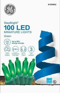 GE StayBright 100-Count 24.75-ft Constant Warm White Mini LED Plug-In Christmas