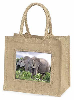 Elefanten Soulmates Stimmung Große Natürliche Jute-einkaufstasche Chri,