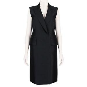 Thomas-Wylde-Black-Sleeveless-Tuxedo-Dress-Coat-US2-UK6