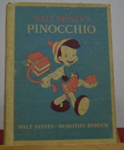 LIBRO-PINOCCHIO-WALT-DISNEY-ORIGINALE-AMERICANO-ANNI-039-30