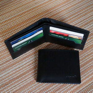 ecda86e960 Details about Real Leather Wallet, Credit Card Holder Bifold Purse Full  Grain Leather Wallet