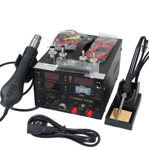 220V Hot Air  Power supply 3IN1 soldering Rework Station Saike 909D