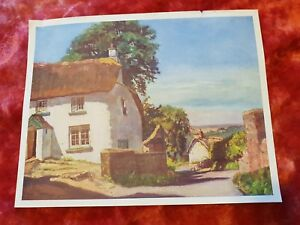 English-Cottages-Vintage-Print