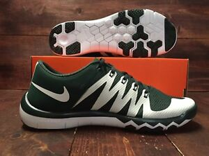 Details about Nike Free Trainer 5.0 V6 AMP Michigan State Spartans MSU Size 14 GREENWHITE