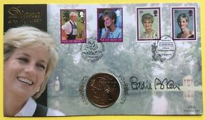 31.08.02 Princess Diana, Sig. EDDIE ASKEW, Leprosy Mission. Benham Coin FDC SHS