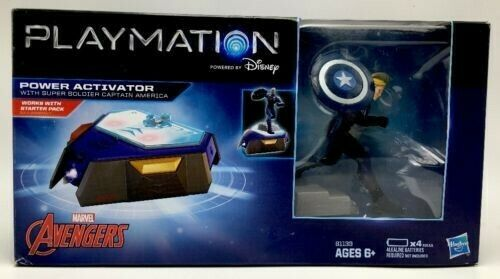 Playmation Captin America Super Soldier and War Machine with Power Activator
