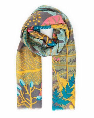 Ladies Tatyana Light Grey Bird /& Tree Print Soft /& Warm Polyester Large Scarf
