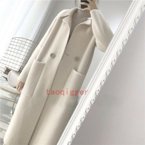 Long Outwear Winter Trench Loose Jakke Frakke Kvinders Ny Warm Cardigan Fur Pocket xRInqAT