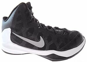 33159e2a7e41b NIKE ZOOM WITHOUT A DOUBT MEN'S BLACK/SILVER BASKETBALL SHOES sz 8 ...