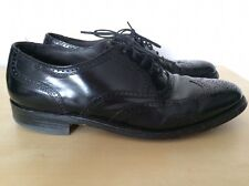 Hanover Masterflex Full Brougue Black Wingtip Oxford Combination Last Sz 7.5 D/B