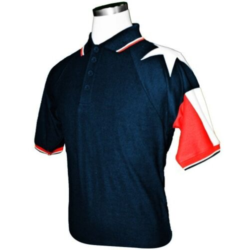 in Red or Blue Mens Texas Flag Original Pique Polo Lone Star Flag White