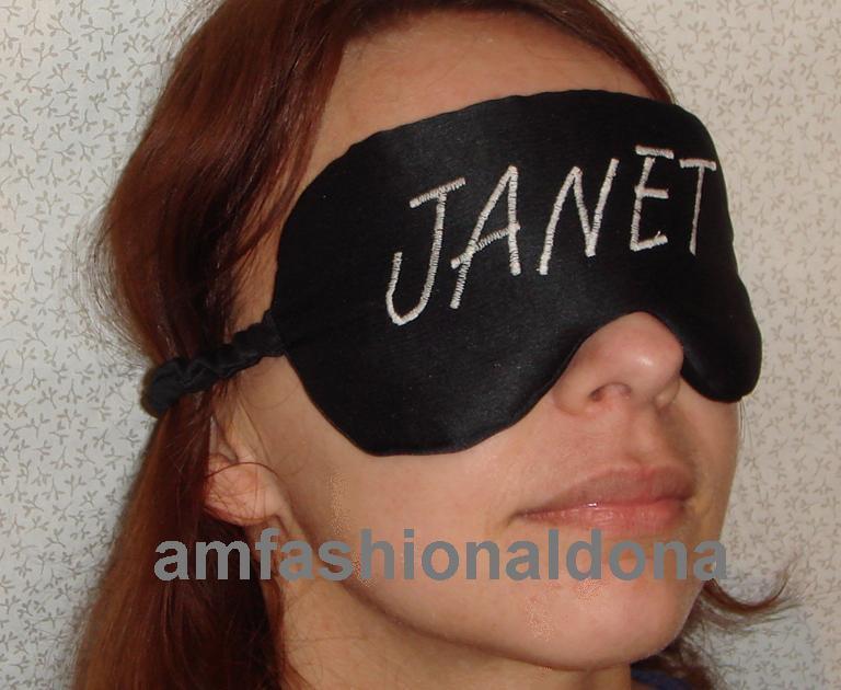 New soft à-dire personnalisé rembourré yeux / masque de sommeil à-dire soft 934f36
