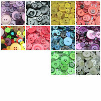 30g x Mixed Acrylic Plastic Buttons Mixed Sizes , Shapes * PICK COLOUR **