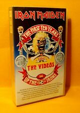 VHS Iron Maiden The First Ten Years The Videos 1980 - 1990 Heavy Metal RARE !