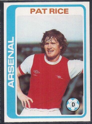 TOPPS-FOOTBALL PALE BLUE BACK 1979 -#242- ARSENAL PAT RICE