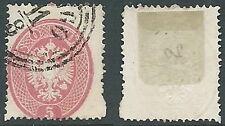 1863 LOMBARDO VENETO MANTOVA USATO 5 S - A122