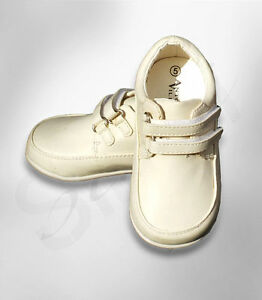 Image Is Loading Baby Boys Formal Shoes Toddler White Ivory Black