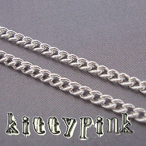 2-Metres-Silver-Plated-Chain-3-x-2mm-NICKEL-FREE