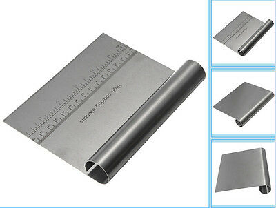 Stainless Steel Pizza Dough Scraper Cutter Kitchen Flour Pastry Cake Tool Scale