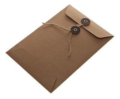 String Tie Envelopes Brown Kraft pack of 25 (C6 size )