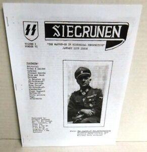 PERIODICAL-WW2-SIEGRUNEN-Waffen-SS-in-Historical-Perspective-Vol-1-6-Jan-78-op