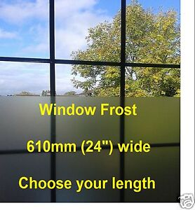 frosted window tint film etch glass frost 610mm wide sticky back plastic s adh ebay. Black Bedroom Furniture Sets. Home Design Ideas