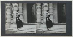 Donna Modalità Foto Amateur P39L9n33 Stereo Stereoview Vintage Citrato c1905