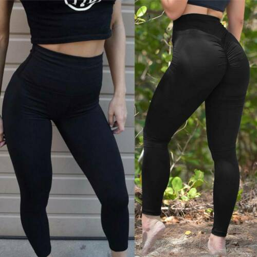 Womens High Waist Yoga Pants Gym Leggings Scrunch Fitness Sports Running Stretch